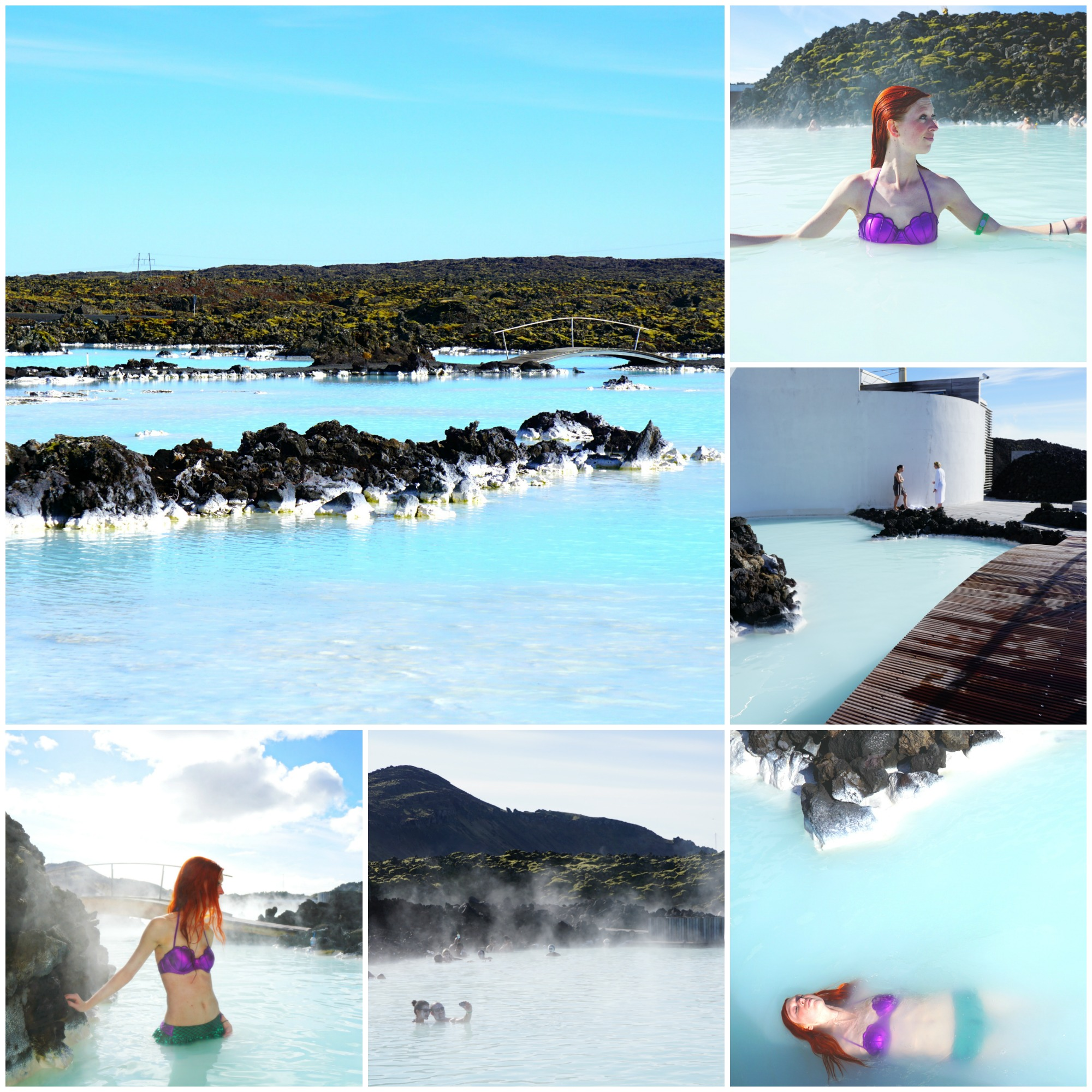 The Blue Lagoon collage